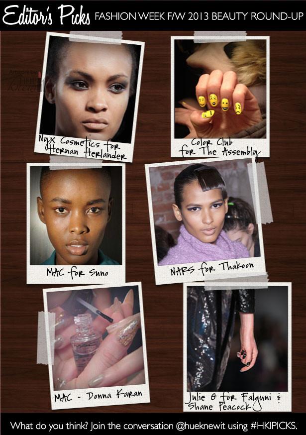 6 Fashion Week F/W 2013 Beauty Trends