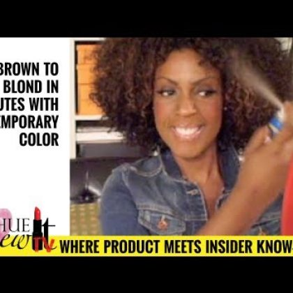 VIDEO: Safely Color Chemically Relaxed Hair Blond in Minutes