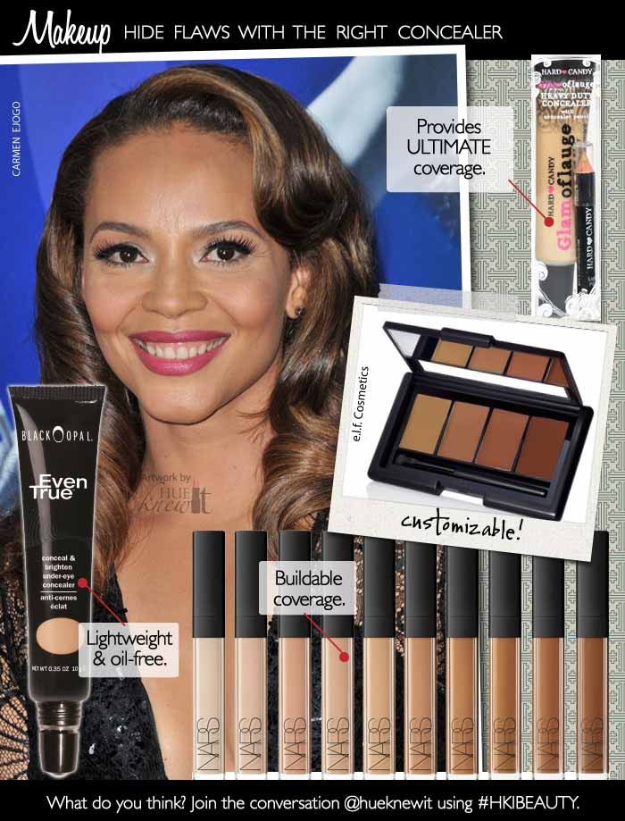HueKnewIt Makeup - Concealers for Women with brown skin tones - Carmen Ejogo