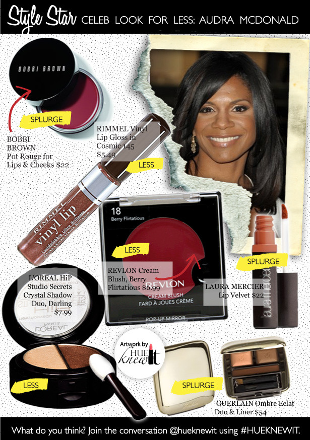 Audra McDonald: Star Style Beauty Products on a Budget