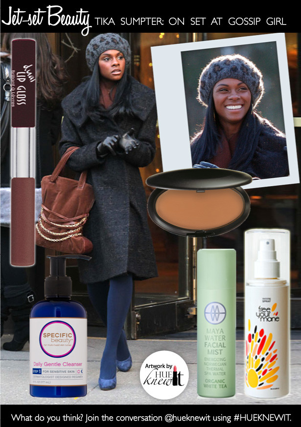 Get the Winter Hair and Makeup Look of Gossip Girl's Tika Sumpter