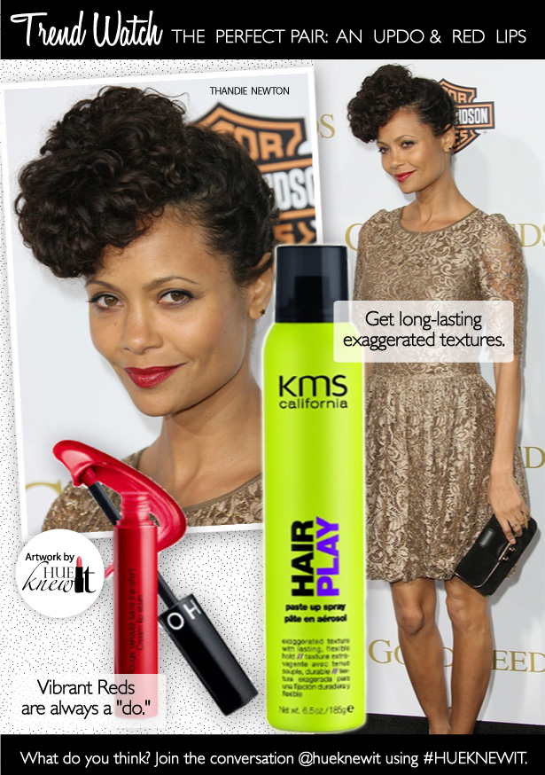 The Perfect Pairing: Updos for Curly Hair & Red Lip Color for Black Women