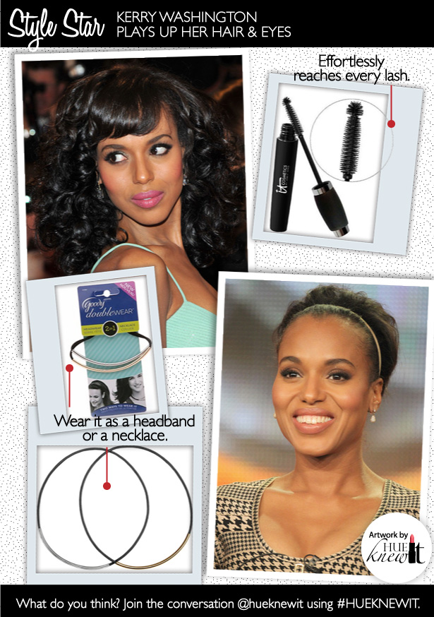 Accentuate Hair and Makeup Like Kerry Washington