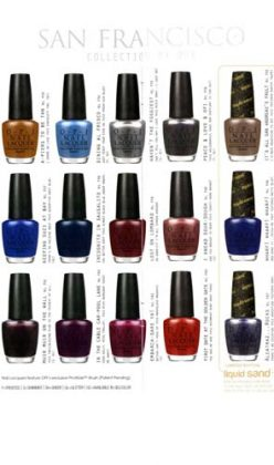 OPI Launches the San Francisco Collection For Fall/Winter 2013