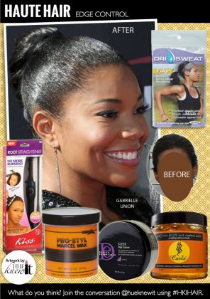 Maintain Straight Edges With Edge Control Hair Products