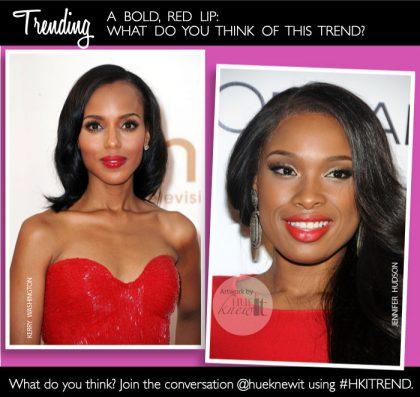 TRENDING: Bold, Red Lips