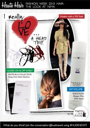Fashion Week 2010 Hair: The Look at NIMA