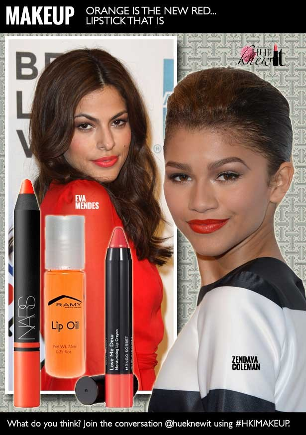 The Orange Lipstick Trend is the New Red