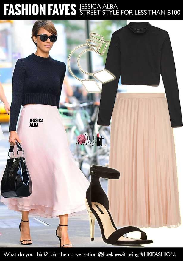 Jessica Alba Street Style - Ralph Lauren Spring 2014