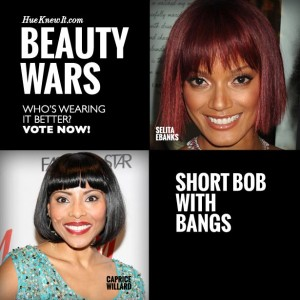 Short Bob with Bangs: VOTE for Selita or Caprice