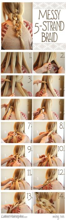messy-5-strand-braid