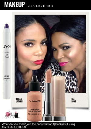 hueknewit-MAKEUP-girls-night-out-Sanaa-Lathan-Nia-Long