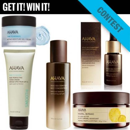 #Win A Collection of AHAVA Dead Sea Minerals Products!