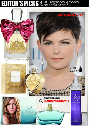 hueknewit EDITORS PICKS 4 fall fragrances Ginnifer Goodwin