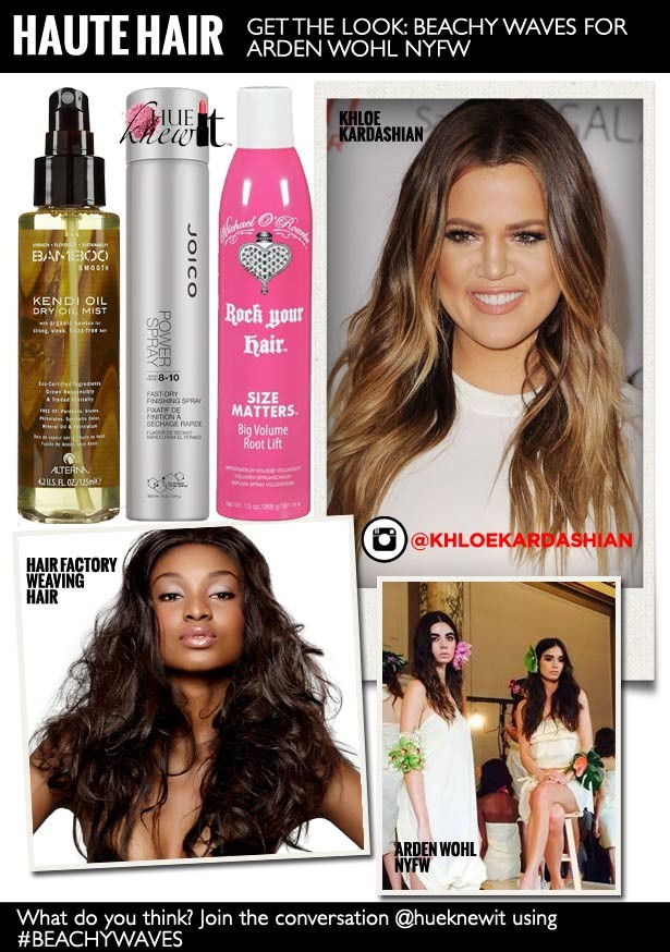 Beachy Wavy Hair à la Khloe Kardashian: A How-To