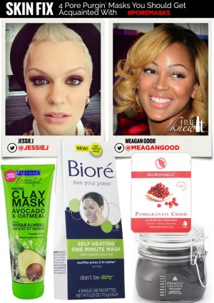 hueknewit SKIN FIX pore purging masks meagan good Jessie J