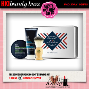 hueknewit beauty buzz mens holiday gifts the body shop modern gents shaving kit