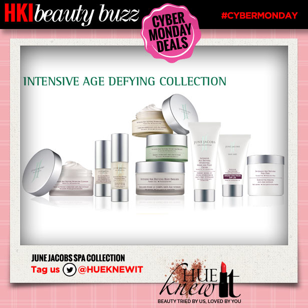 hueknewit beauty buzz cyber monday deals june jacobs spa collection