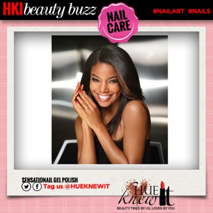 Gabrielle Union Helps ReLaunch SensatioNail Gel Polish!