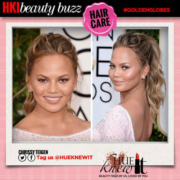 Golden Globes Beauty Looks: Get Chrissy Teigen's Chic Pony