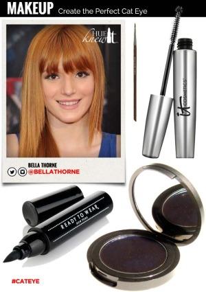 hueknewit MAKEUP Create the Perfect Cat Eye Bella Thorne