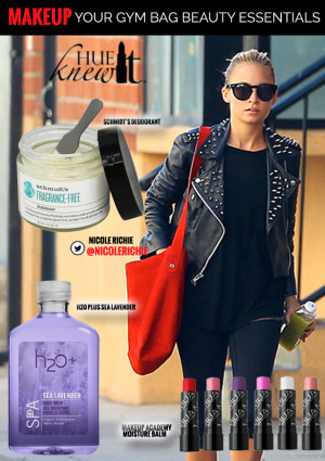 hueknewit MAKEUP gym bag beauty Nicole Richie