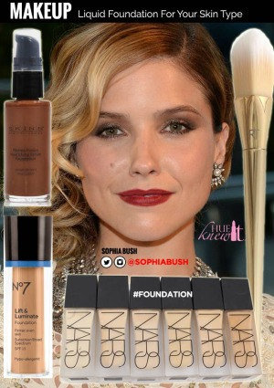 hueknewit MAKEUP liquid foundation for your skin type Sophia Bush