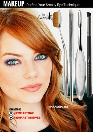hueknewit MAKEUP perfect your smoky eye technique Emma Stone