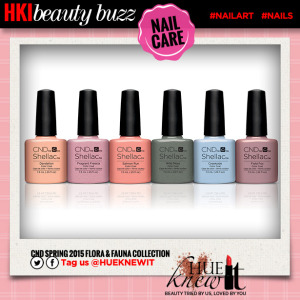 hueknewit BREAKING NEWS CND shellac floral fauna collection
