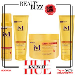 hueknewit BREAKING NEWS Motions hair care new look