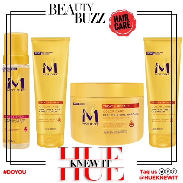 hueknewit BREAKING NEWS Motions hair care new look