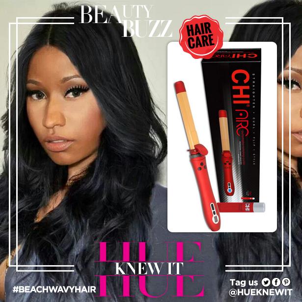 Nicki Minaj with beach wavy hair