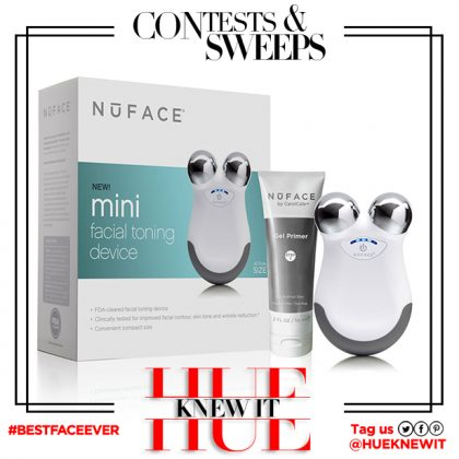 GIVEAWAY: NuFace Mini Facial Toning Device