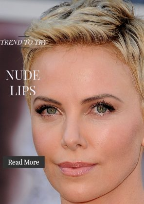 Mimic Charlize Theron's Nude Lipstick Look