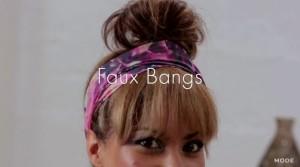 HAIR REPORT: Faux Bangs