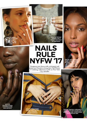 Nail Art Rules New York Fashion Week FW'17 Catwalks