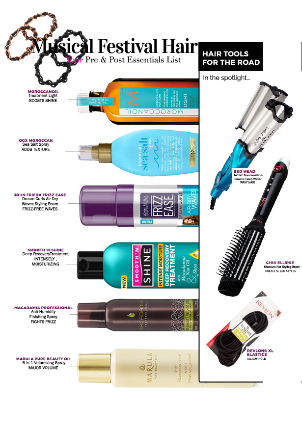 Pre & Post Music Festival Hair Essentials Checklist