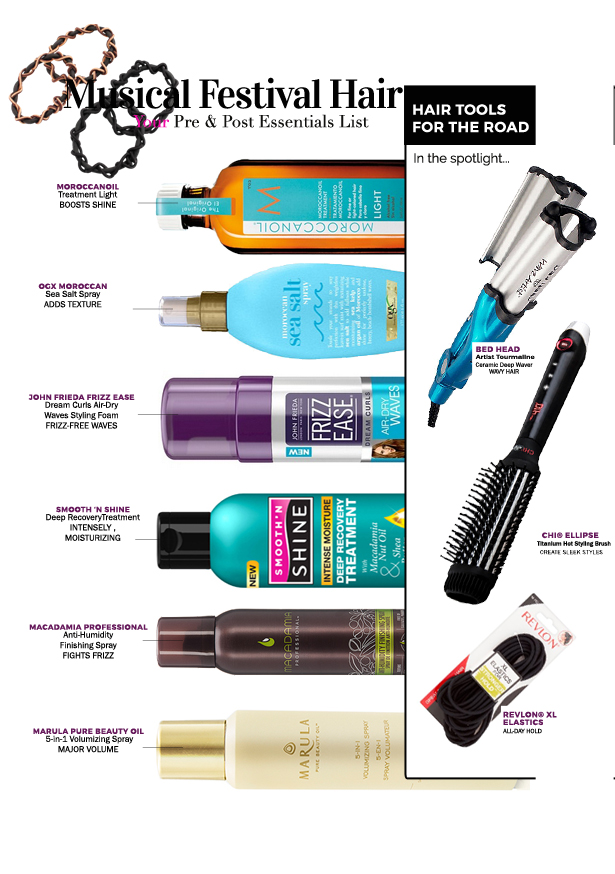 music festival hair essentials