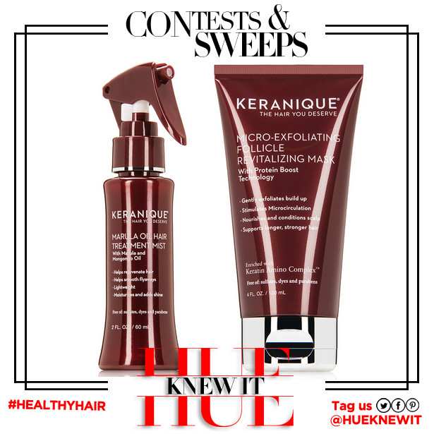 GIVEAWAY: Keranique Exfoliating Mask and Marula Oil Treatment