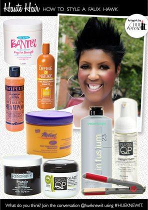Hair Styling Tutorial: Styling A Faux Hawk For Women