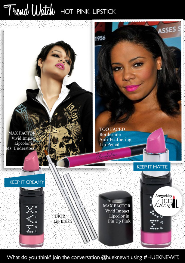Trend Watch: Hot Pink Lip Color