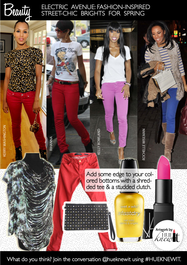 Wear The Street Chic Bright Colored Jeans Trend For Spring