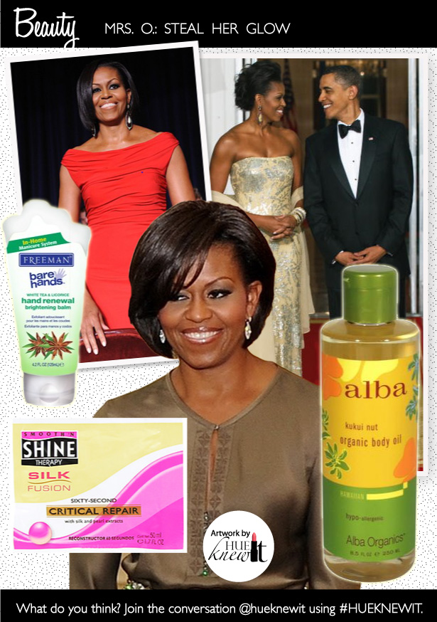 Get Glowing Skin and Hair Like FLOTUS Michelle Obama