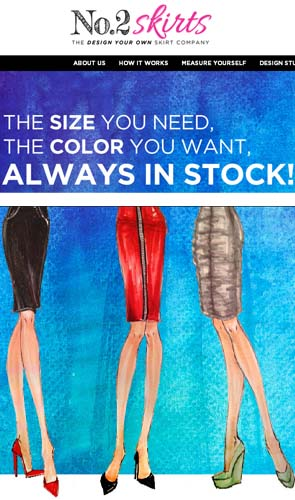 NEW Online Custom Skirt Design Service