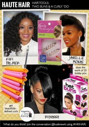 Hair Bun Tools for Styling Buns & A Curly Hairdo