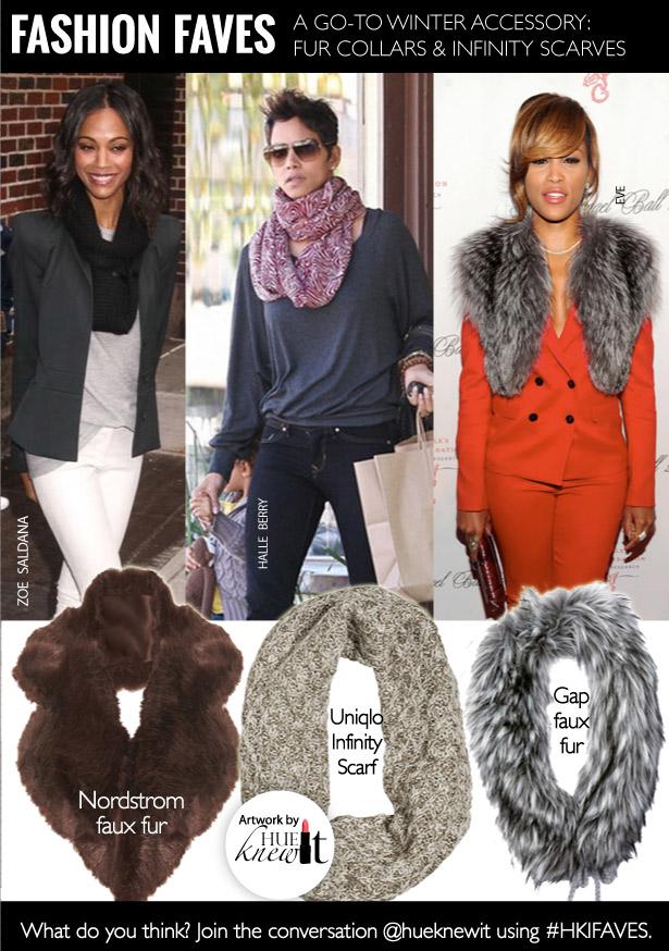 2 Winter Neckwear Styles: Fur Collars & Infinity Scarves