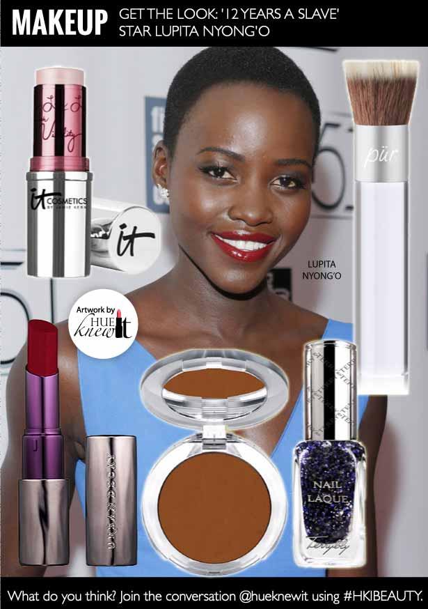 HueKnewit - holiday party makeup - Lupita Nyong'o