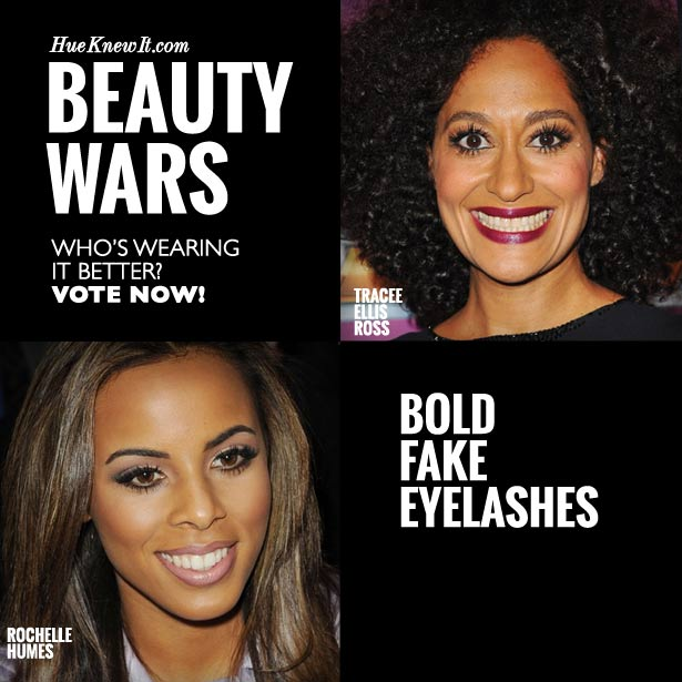 HueKnewIt Beauty Wars: Bold Fake Eyelashes - Tracee Ellis Ross or Rochelle Humes