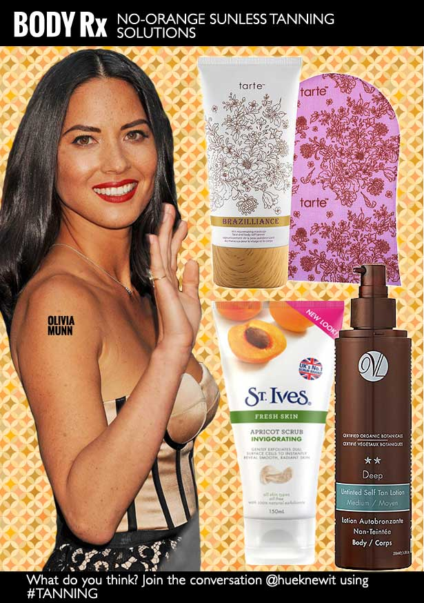 No-Orange Sunless Tanning Solutions