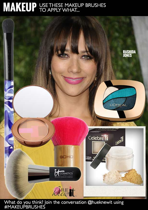 hueknewit MAKEUP makeup brushes Rashida Jones